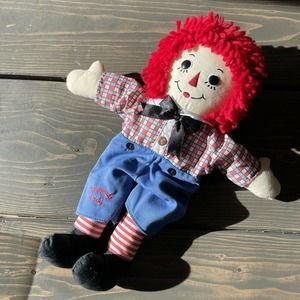 "Applause Raggedy Andy Doll Plush Fabric 12"" Tall"
